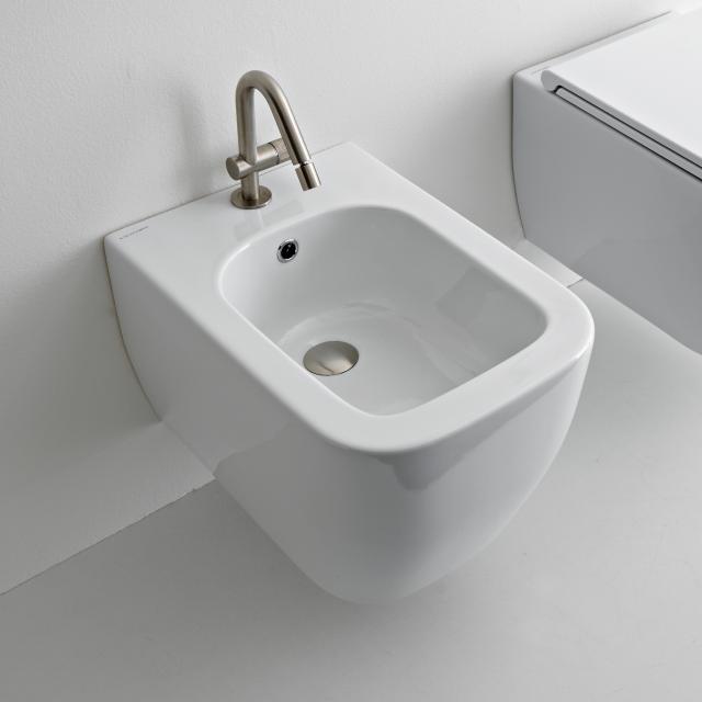 Scarabeo Teorema 2.0 wall-mounted bidet white, with BIO system coating