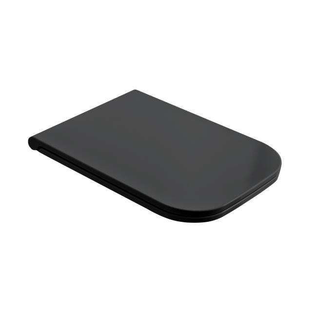 Scarabeo toilet seat, removable matt black, with soft close