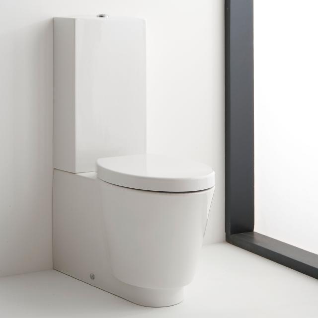 Scarabeo Wish monobloc floorstanding close-coupled washdown toilet white, with BIO System coating