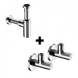 Schell design siphon EDITION and 2 angle valves STILE