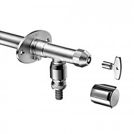 Schell frost-resistant, outdoor, wall-mounted fittings POLAR II, brickwork: 200 mm, DVGW certified