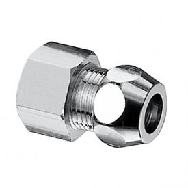 Schell straight screw connection with female thread for copper pipe Ø 10 mm 3/8
