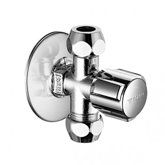 Schell angle valve COMFORT, with 2 outlets