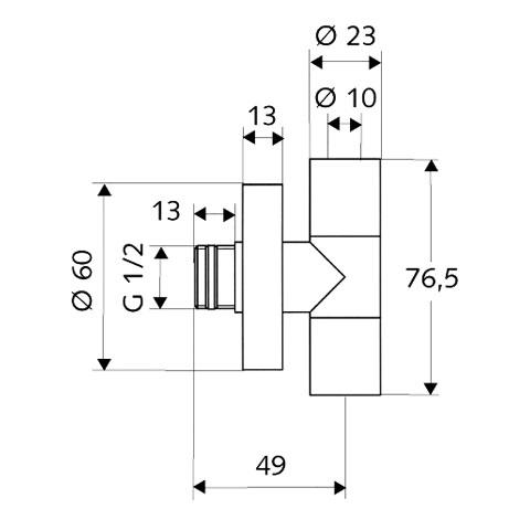 Schell design angle valve EDITION