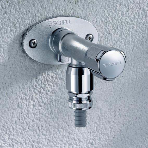 Schell frost-resistant outdoor wall-mounted fitting POLAR II set brickwork: 200-500 mm, DVGW certified