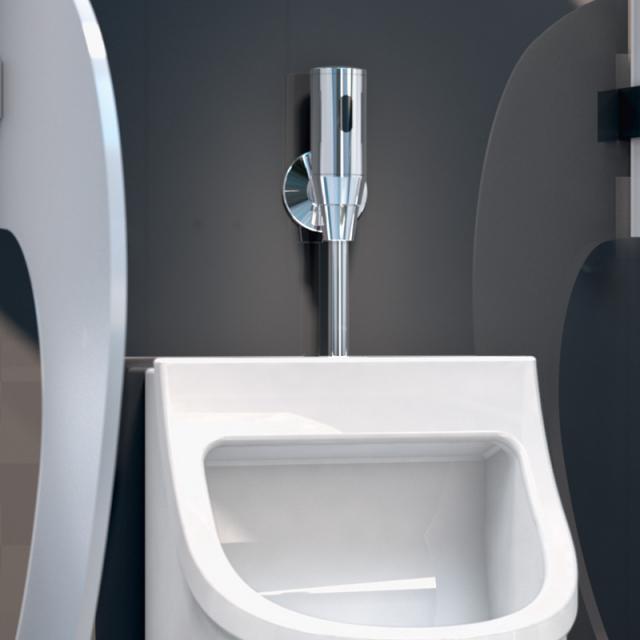 Schell infrared urinal flush valve unit SCHELLTRONIC for battery operation