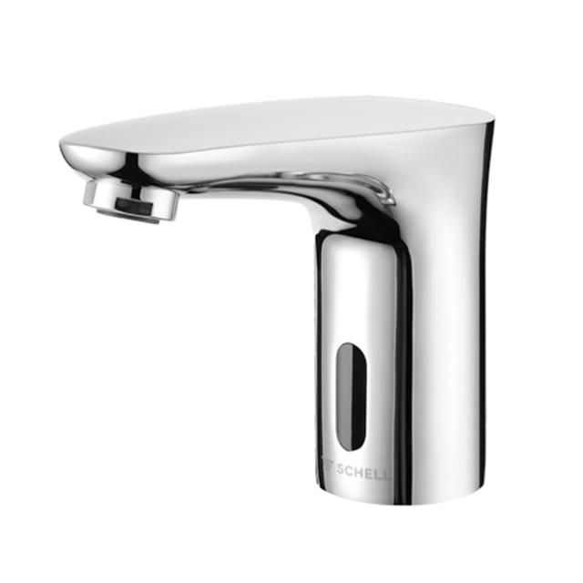 Schell Modus E electronic basin fitting for cold water includes plug-in power supply