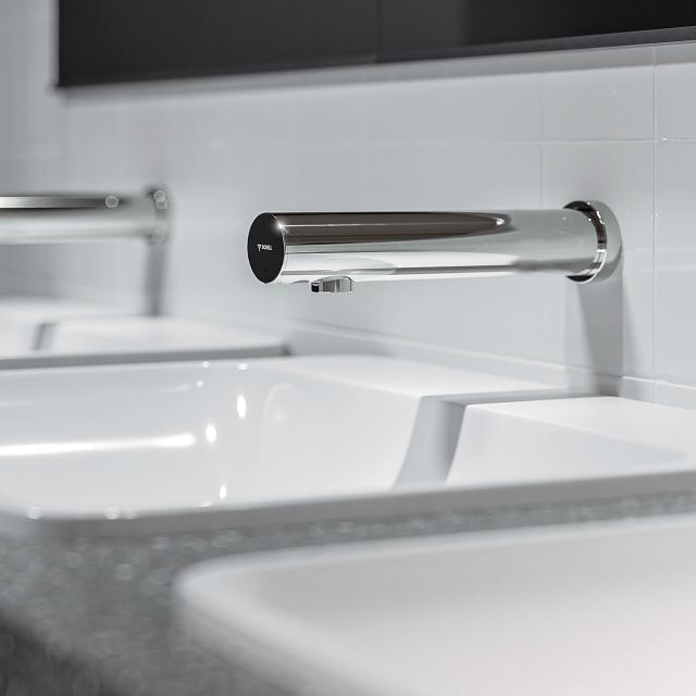 Schell Modus E electronic wall-mounted basin fitting
