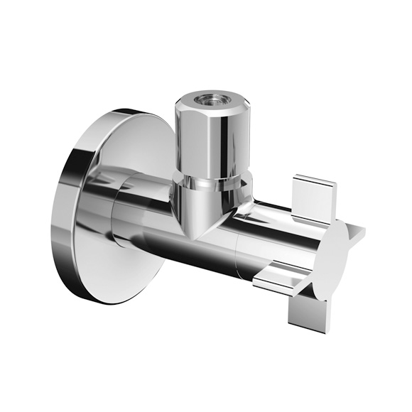 Schell regulating angle valve 4WING with compression joint
