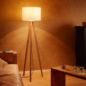 Herbert Schmidt Oak floor lamp with inline dimmer