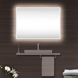 Schneider A-LINE mirror with LED lighting silver anodised, without sound system