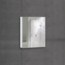 Schneider ADVANCEDLINE Comfort mirror cabinet with LED interior lighting with 1 door white