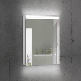 Schneider ARANGALINE mirror cabinet with 1 door silver anodised