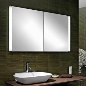 Schneider ELUALINE mirror cabinet, with 2 doors silver anodised