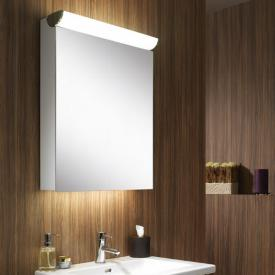 Schneider FACELINE mirror cabinet with LED lighting silver anodised, socket right