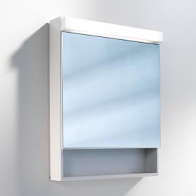 Schneider LOWLINE mirror cabinet with LED lighting, with door, with open compartment