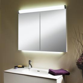 Schneider PALILINE mirror cabinet with 2 doors, with lighting silver anodised