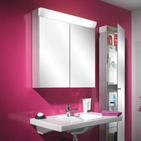 Schneider WANGALINE mirror cabinet with 2 doors silver anodised