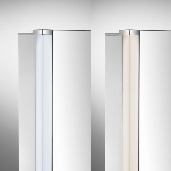 Schneider ELUALINE mirror cabinet with 2 doors silver anodised