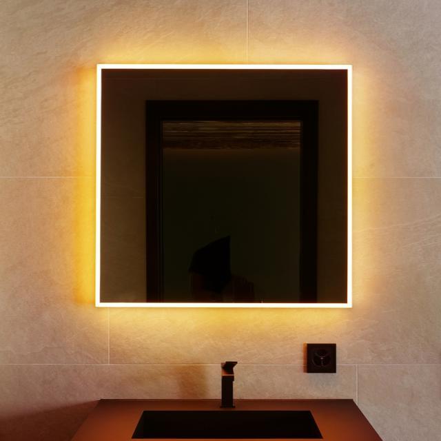 Schneider A-LINE mirror with LED lighting matt black, with sound system