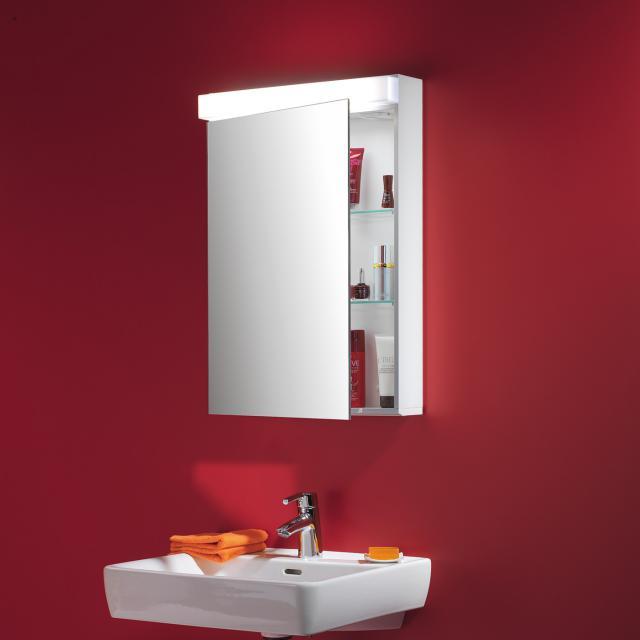 Schneider LOWLINE mirror cabinet with LED lighting, with 1 door