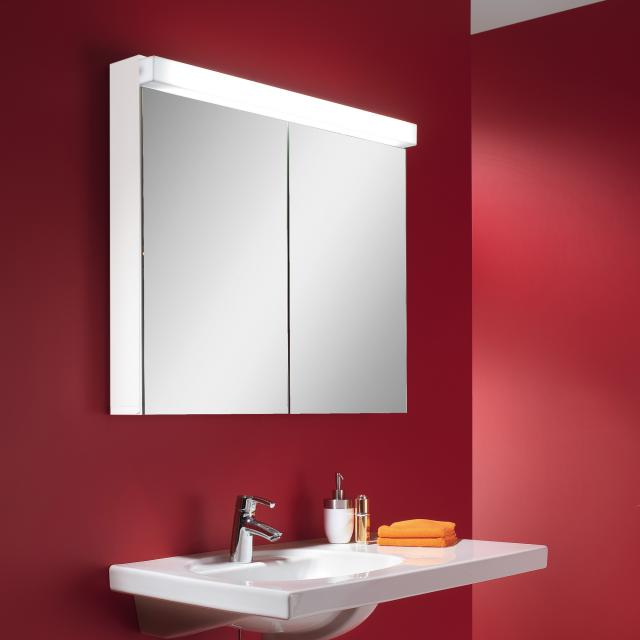 Schneider LOWLINE mirror cabinet with LED lighting, with 2 doors