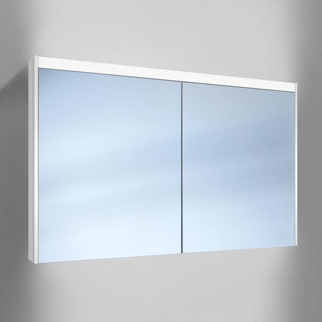 Schneider O-Line wall-mounted mirror cabinet, 2 doors, with washbasin lighting