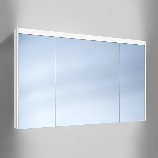 Schneider O-Line wall-mounted mirror cabinet, 3  doors, with washbasin lighting