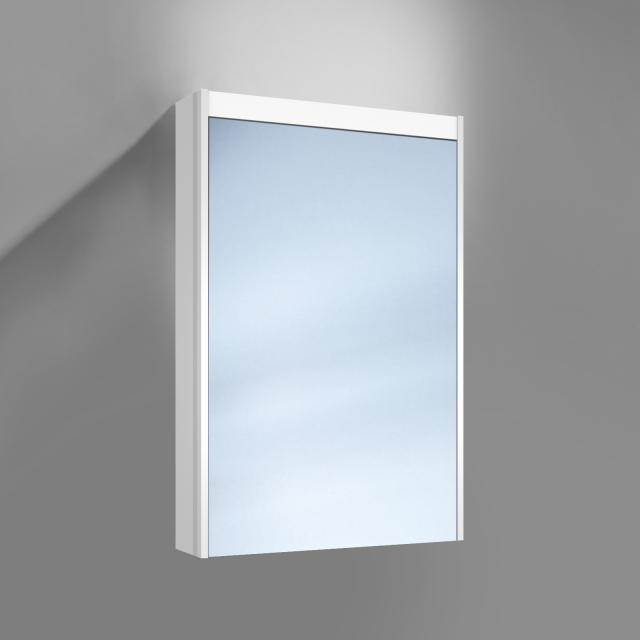 Schneider O-Line wall-mounted or recessed mirror cabinet, 1 doors