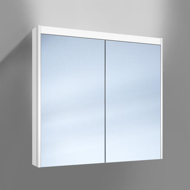 Schneider O-Line wall-mounted or recessed mirror cabinet, 2 doors