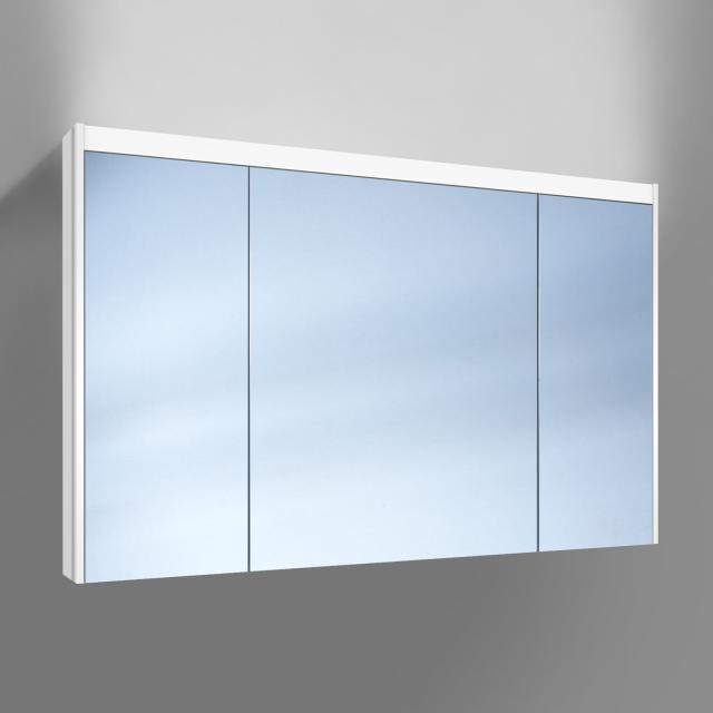 Schneider O-Line wall-mounted or recessed mirror cabinet, 3 doors
