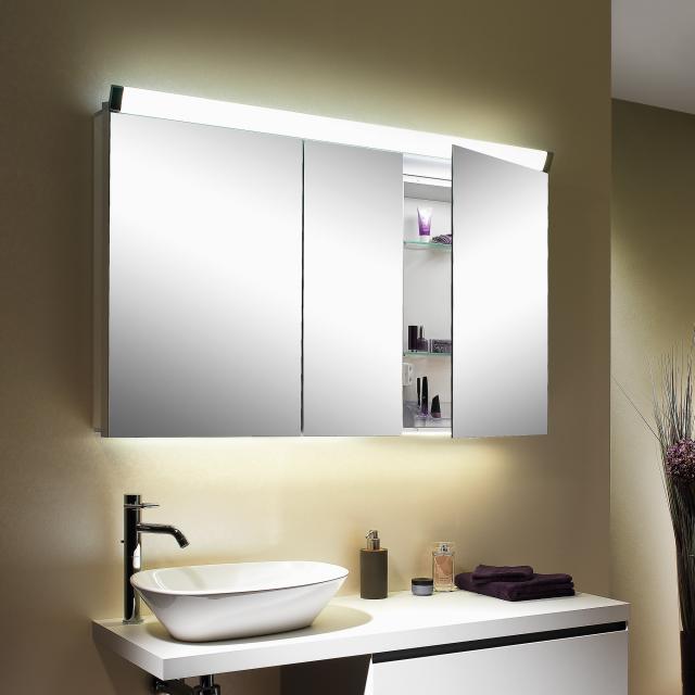Schneider PALILINE mirror cabinet with 3 doors silver anodised