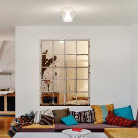 Serien Lighting Annex LED ceiling light, clear/opal reflector