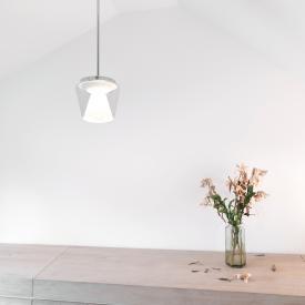 Serien Lighting Annex LED pendant light, clear/opal reflector