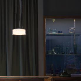 Serien Lighting Curling LED pendant light, opal cylindrical