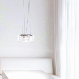 Serien Lighting Curling LED pendant light, clear