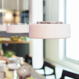 Serien Lighting Curling Tube LED pendant light, opal