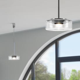 Serien Lighting Curling Tube LED pendant light, clear