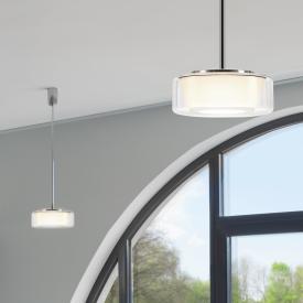 Serien Lighting Curling Tube LED pendant light, opal conical