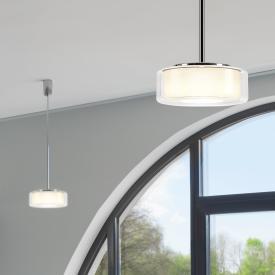Serien Lighting Curling Tube LED pendant light, opal cylindrical
