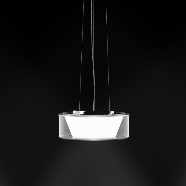 serien.lighting Curling LED pendant light, opal conical