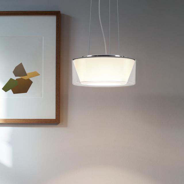 serien.lighting Curling Rope LED pendant light, conical, D2W
