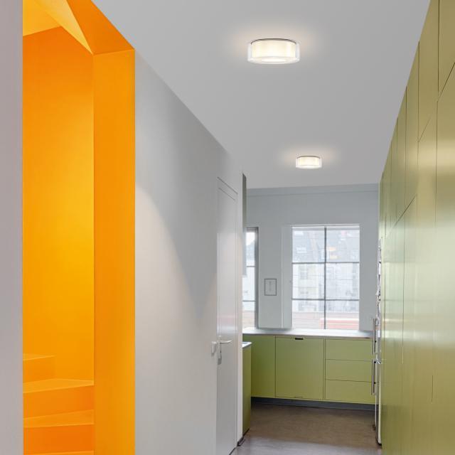serien.lighting Curling LED ceiling light, cylindrical