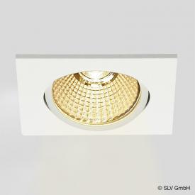 SLV NEW TRIA LED recessed ceiling light / spotlight with Dim-To-Warm, square