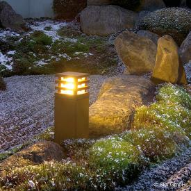 SLV RUSTY SQUARE 40 LED pedestal light