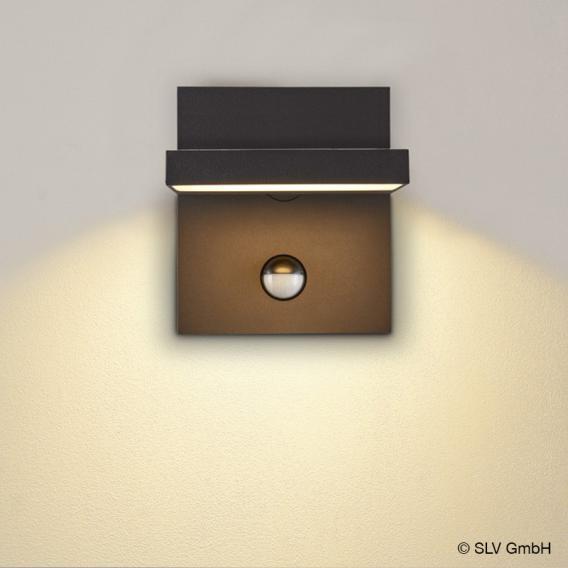 SLV ABRIDOR LED wall light with CCT and motion sensor