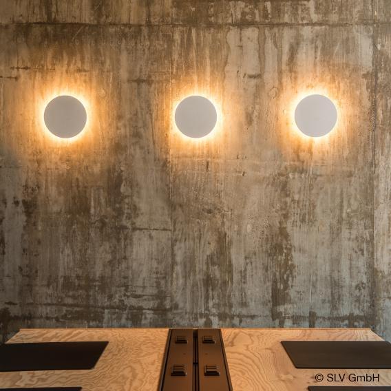 SLV PLASTRA  LED wall light made of gypsum, round
