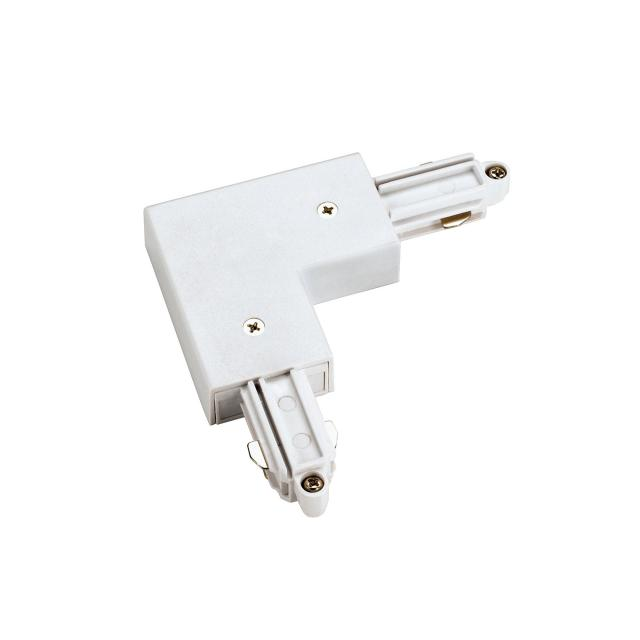 SLV Corner connector for 1-circuit track, inner earth W: 10.4 H: 1.8 D: 10.4 cm, white