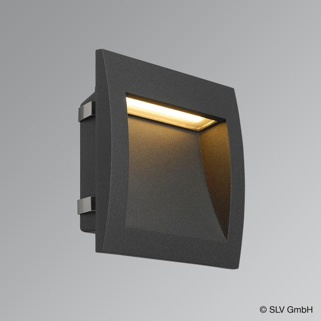 SLV DOWNUNDER OUT L LED recessed wall light