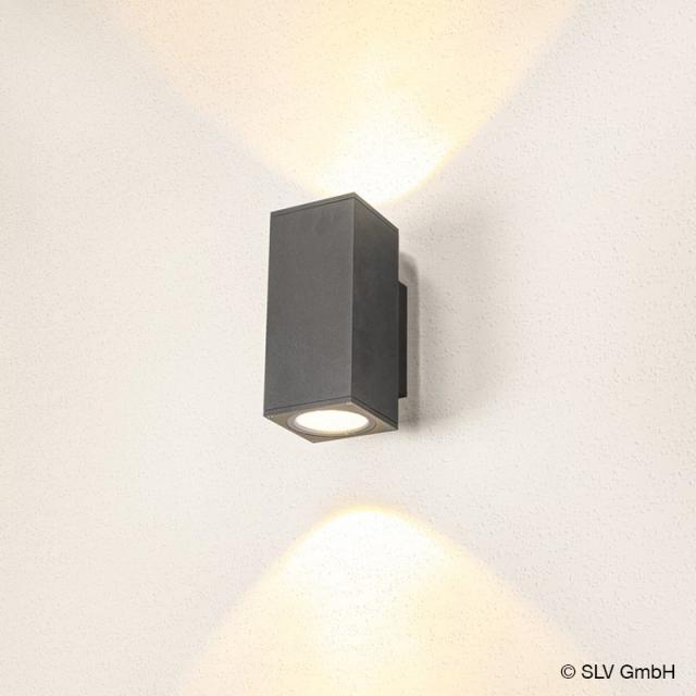 SLV ENOLA LED wall light with CCT, double, square